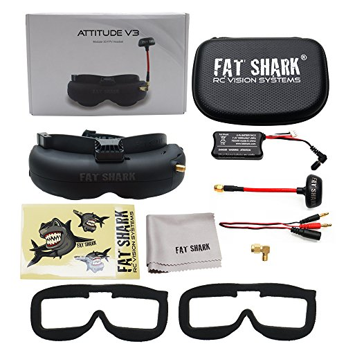 Fat Shark fatshark Attitude V3 FPV Video Goggles Headset Modular RF Goggle w/ 3D Support