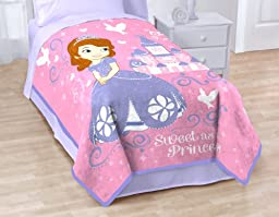 Disney Sofia The First Sweet Princess Coral Fleece Blanket