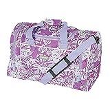 "Hi-Tec Ladies 22"" FLORAL HOLDALL GYM TRAVEL Hand Luggage BAG (22"" Lilac)"