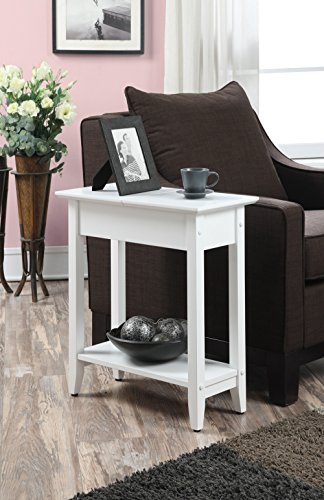 Convenience Concepts American Heritage Flip Top End Table, White