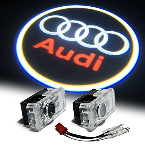 Bailongju Audi Easy Installation Car Door LED Logo Projector Ghost Shadow Lights 2-pc Set