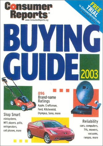 Buying Guide 2003 (Consumer Reports Buying Guide) pdf