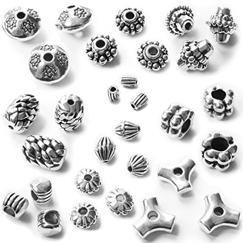 Ends Pull Bail Flower - Heather's cf 215 Pieces SilverBeads AccessoriesforWomenJewelry