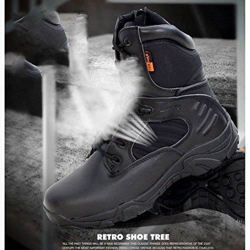 Uomini Tattico Caviglia Escursionismo Laterale Alla Comp Elegantstunning Cerniera Pelle Black44 Per Impermeabile Combat Stivali Militare Black45 Gli Army Lavoro wIxta0