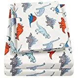 1500 Supreme Kids Bed Sheet Collection - Fun Colorful and Comfortable Boys and Girls Toddler Sheet Sets - Deep Pocket Wrinkle Free Hypoallergenic Soft and Cozy Bedding - Twin, Dinosaurs