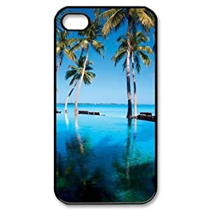 Beautiful Maldives Brand New Cover Case with Hard Shell Protection for Iphone 4,4S Case lxa#470336