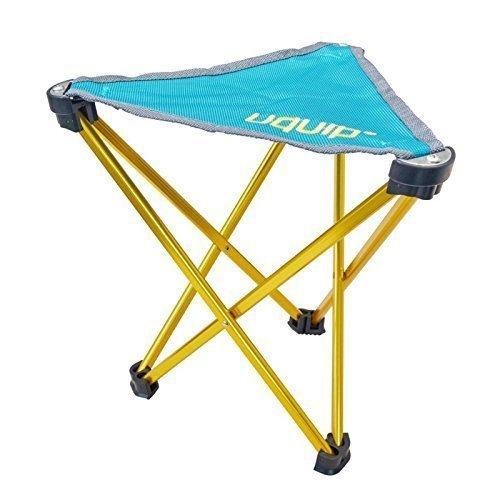 Uquip Trinity Portable Folding Tripod Stool Camping Sports - Petrol/Gold by Uquip