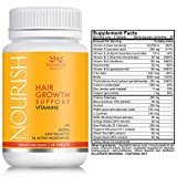 Nourish Beaute Hair Growth Vitamins for Hair Loss and Thinning That Promotes Regrowth for Men and Women, 1 Bottle of 60 Tablets