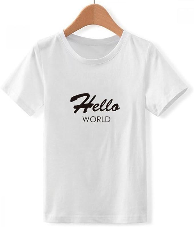 DIYthinker Programador de Interfaz de Hello World Cuello Redondo Camiseta para Chico: Amazon.es: Ropa y accesorios
