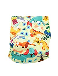 Calico Swim Diaper Baby Infant Snap Absorbent Washable Swimsuit Diaper Reusable Swim Nappy for Baby Toddlers Swimming Lessons, One Size Fit All(BL012)