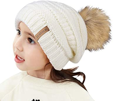 Kids Winter Hat Beanie Knit Cap /& Scarf for Baby Boys Girls Toddler 0-3T