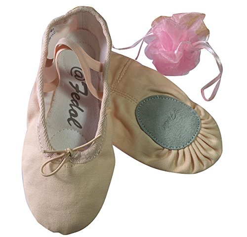 Lady's Pink Canvas split-sole Ballet Slippers --7.5 (Canvas Slippers)