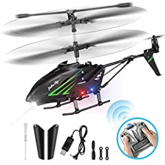 HisHerToy Remote Control Helicopter with Gyro and LED Lights 3.5 Channel RC Helicopter for Kids Adults Blade Indoor Micro Helicopter with Remote Control for Boys Girls
