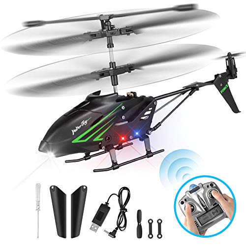 HisHerToy Remote Control Helicopter with Gyro and LED Lights 3.5 Channel RC Helicopter for Kids Adults Blade Indoor Outdoor Micro Helicopter with Remote Control for Boys Girls