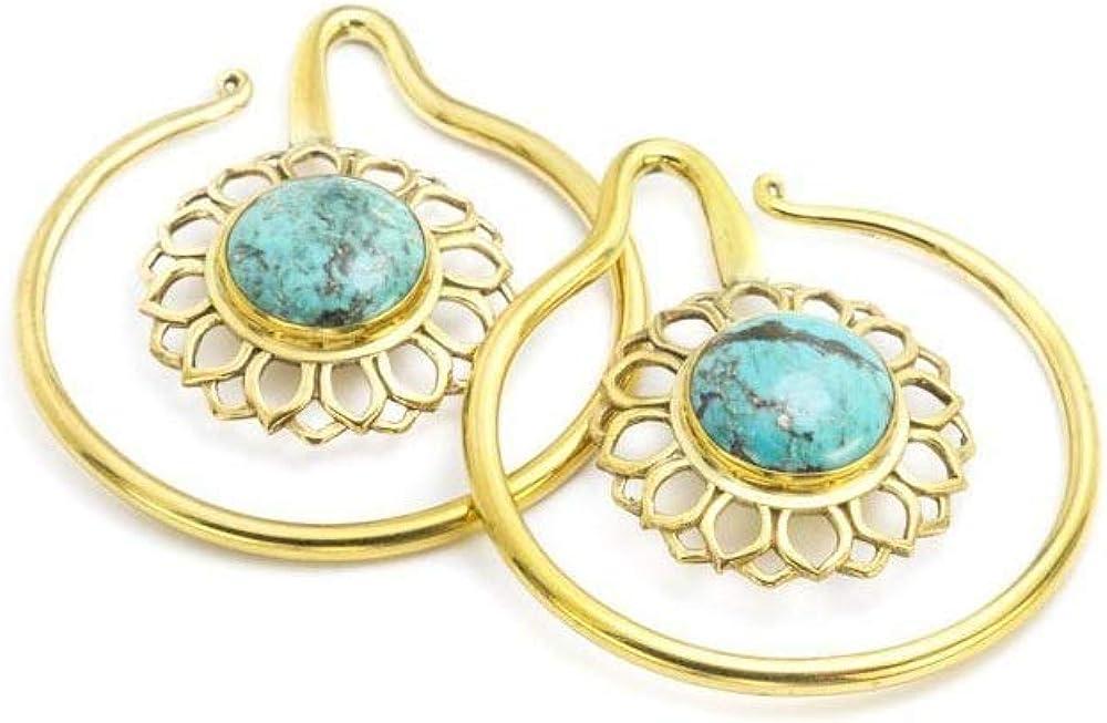 Price Per 2 Elementals Organics 8g Bronze Indonesian Turquoise Earrings