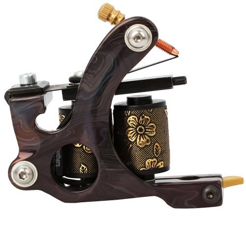 (1TattooWorld 8 Wrap Coils Iron Liner Gun Tattoo Machine, OTW-M702)