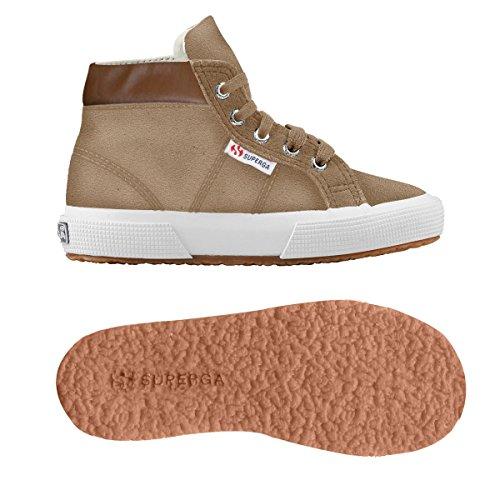 Superga 2204 - Suej - Zapatillas de cuero para niño Lt Brown