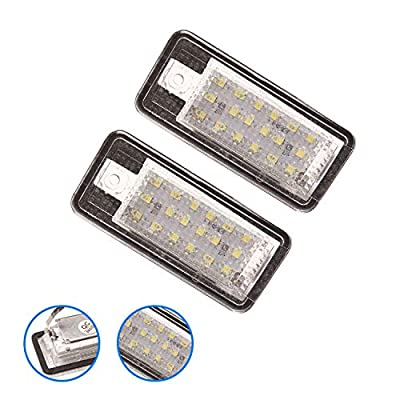 Beneges Xenon White LED License Plate Light Housing Compatible with 2001-2009 Audi A3 A4 A6 A8 S3 S4 S6 S8 C6 Q7 RS4 RS6 License Plate Lamp F1TZ-13550-A: Automotive
