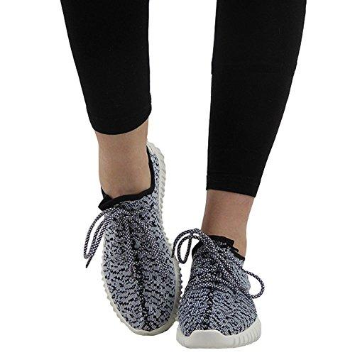 Señoras Corriendo Formadores Para Mujer Ejercicio Gym Nuevo Deportivo Inspirada Bombas De Zapatos Talla 3-8 blanco