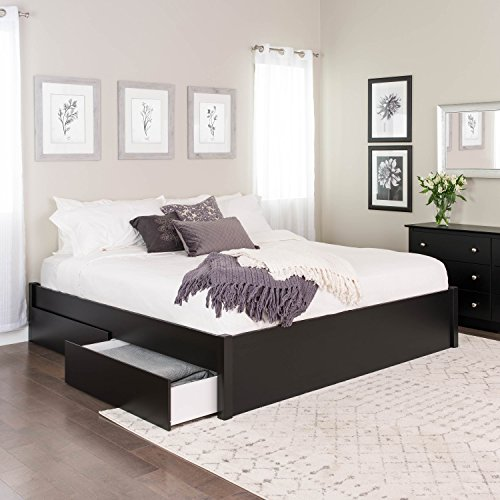 King Select 4-Post Platform Bed with 4 Drawers, ()