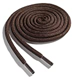 OrthoStep Thick Round Athletic 40 inch Brown Shoe Laces - Thick Shoe and Hiker Boot Laces 2 Pair Pack