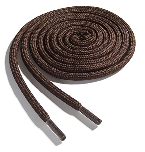 OrthoStep Thick Round Athletic 36 inch Brown Shoe laces - Thick Shoe and Hiking Boot Laces 2 Pair - Round Brown And