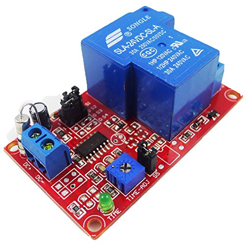 el Relay Module Delay Turn On Relay with Timer Up to 1 Hours ()