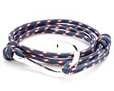 VIRGINSTONE Anchor Fish Hook on Nylon Ropes World Cup Bracelets JAPAN (Silver Plated, Hook) offers