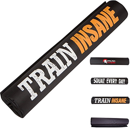 Train insane barbell neck pad for squat bar by Dark Iron Fitness with padding thrusts , calf raises - and more better than or gel red purple cushions supports shoulders (Fixie Rollers)