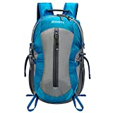 Homdox 25L Unisex Outdoor Sports Backpack with Lifesaving Whistle and Waterproof Covers, Perfect for Hiking Climbing Camping Travelling
