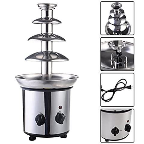 4 Tiers Commercial Stainless Steel Hot New Luxury Chocolate Fondue Fountain New - Fount Base