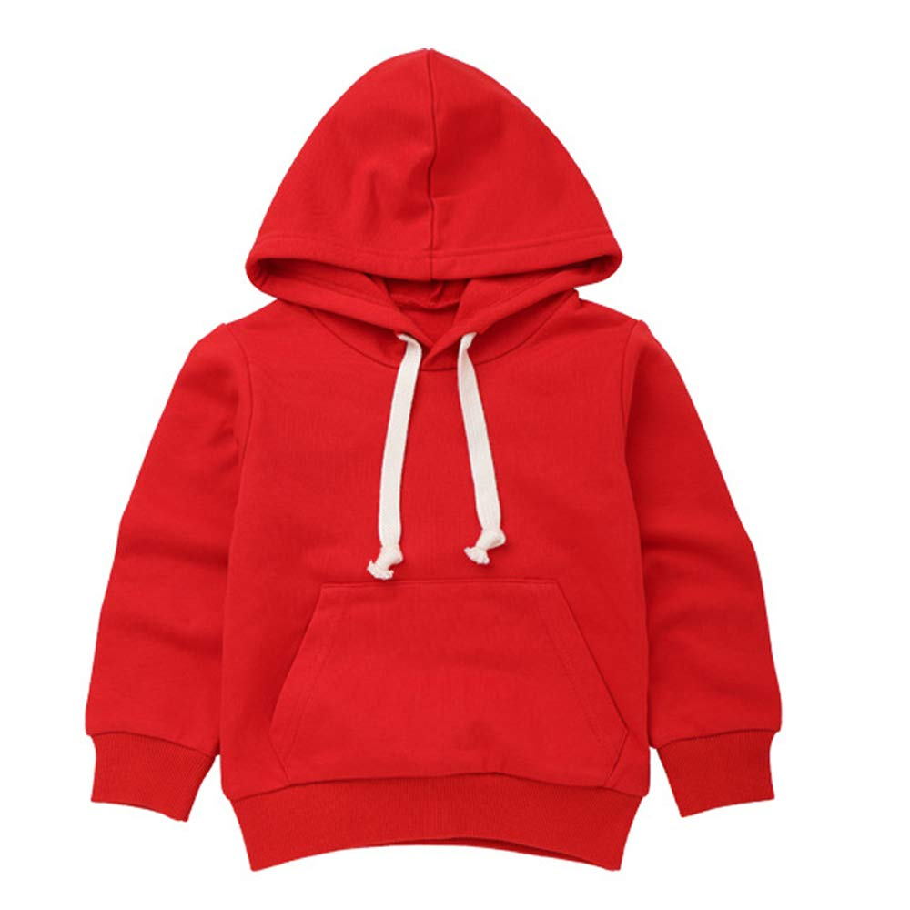 Kids Infant Boys Girls Hooded Pullover Sweatshirt Toddler Baby Casual Simple Pockets Sports Tops Hoodies Outfits