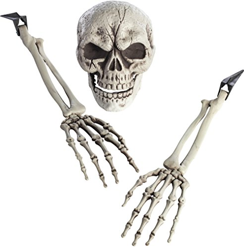 Morbid Enterprises Boneyard 3 Piece Groundbreaker Skeleton Halloween Decor, Multi, One -