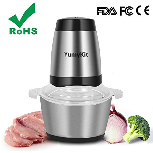 Electric Meat Grinder Sausage Maker Meat Machine Heavy Duty Stainless Steel Mincer, Fast & Slow 2-speed with Grinding Plates Cutting Blade, FDA Approved