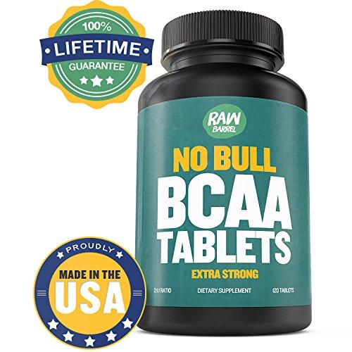 De RAW Canon - comprimés de BCAA Pure - EXTRA fort 1000 mg par comprimé - voir résultats ou votre dos d'argent - 120 Capsules, contient 2:1:1 ramifiée chaine aminoacide Ratio - avec * libre * guide numérique