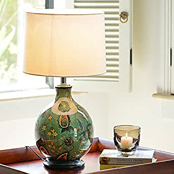 Ddl Hand Painted Ceramic Lamps Bedside Table Lamp Decorated Living Room Den