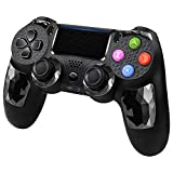 CHENGDAO PS4 Controller Wireless Bluetooth Dual Shock Gamepad for Playstation 4/Pro/Slim/PC with Audio Function, Mini LED Indicator, USB Cable - Black