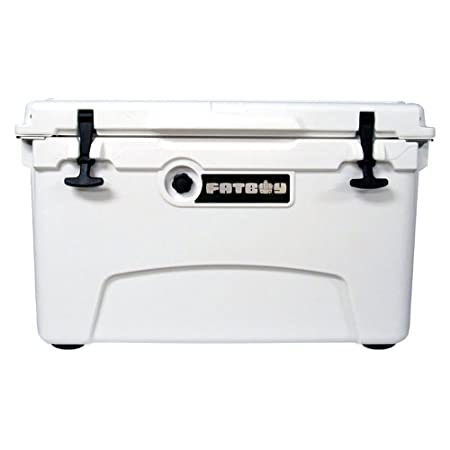 Fatboy 45QT Hard Sided Rotomolded Chest Ice Box Cooler White