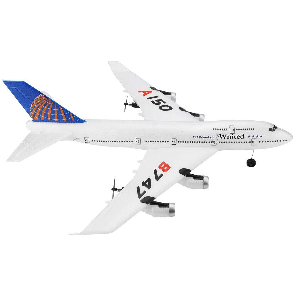 QHJ Remote Control Toys to Send Your Childs Birthday Present White B747 3CH 2.4G RC Airplane RTF Remote Control Glider Sailplane WLtoys A150