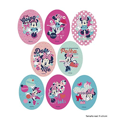 8 Patches Minnie Screen-Printed dots Ironing - REF.6751-U8