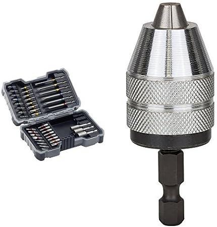 Bosch 2 607 017 164 Portabs hasta 6mm Pack de 43 puntas de atornillar y llaves de vaso tipo PH//PZ//SL//H//T//TH 1-6 x 1//4-6k 2.4//3.6V
