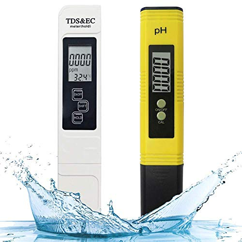 - Digital Ph and Ppm Meter, PH Meter 0.01 PH High Accuracy Water Quality Tester with 0-14 PH Measurement Range,Ideal Water Test Meter for Drinking Water, Aquariums, etc.