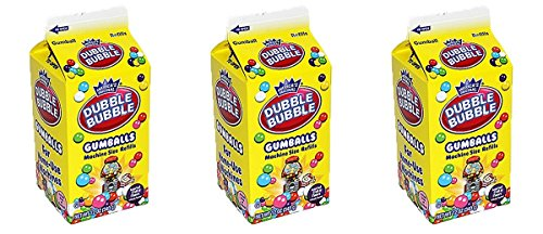 Bubble Gum Refill - America's Original Dubble Bubble Gumballs Machine Size Refills, 12 oz, Pack of 3