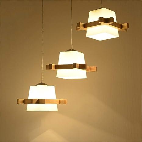 Lámparas de estilo rústico americano Lámpara japonesa de madera ...
