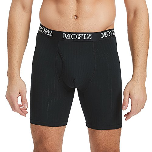 MoFiz Men's Underwear Ultimate Soft Breathable Modal Boxer Briefs with Open Fly Size XL