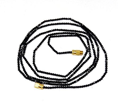 Natural black spinel 2-3mm rondelle faceted beads 22