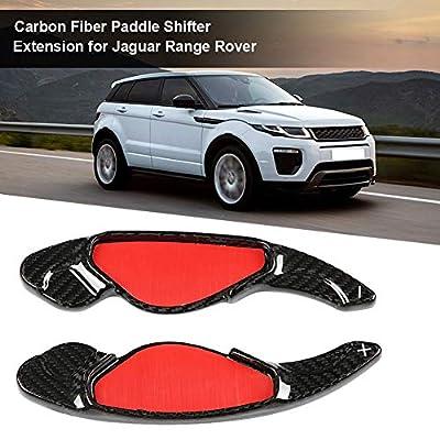Aramox 2pcs Carbon Fiber Paddle Shifter Extension for Jaguar Range Rover: Automotive