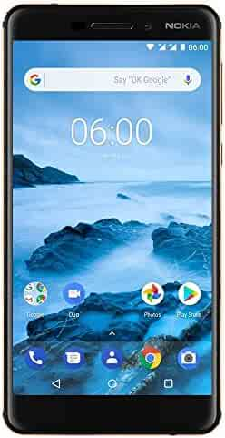 Nokia 6.1 (2018) - Android One (Oreo) - 32 GB - Unlocked Smartphone (AT&T/T-Mobile) - 5.5