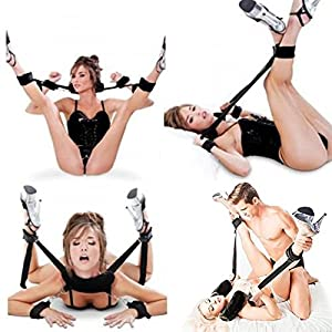 GEBDSM Soft Sex Pillow Restraints Bondage Kit Fetish BDSM Beginner with Ankle Cuffs and Detachable Wrist cuffs Adult Couple SM Lingerie Sex Toy