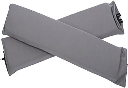 JILIMIshop Copri braccioli per sedie da ufficio e da gioco, 55 x 9 cm, con cuscino antiscivolo, rimovibile, supporto per gomito grigio